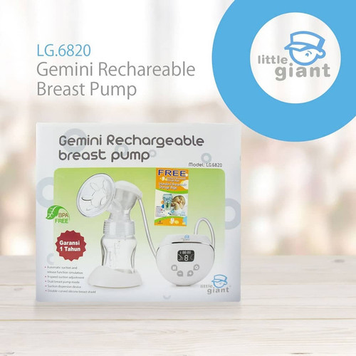 Foto Produk LITTLE GIANT Gemini Rechargeable Breast Pump LG.6820 dari Yen's Baby & Kid Official Shop