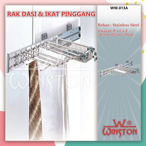 Foto Produk Rak Dasi Kemeja Celana Gantung Winston WW 013 A CRM Rak Tie & Belt dari WINSTON SUKSES ABADI