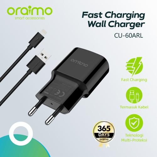 Foto Produk Oraimo Wall Charger Fast Charging dengan Kabel USB Lightning CU-60ARL dari Oraimo_indonesia