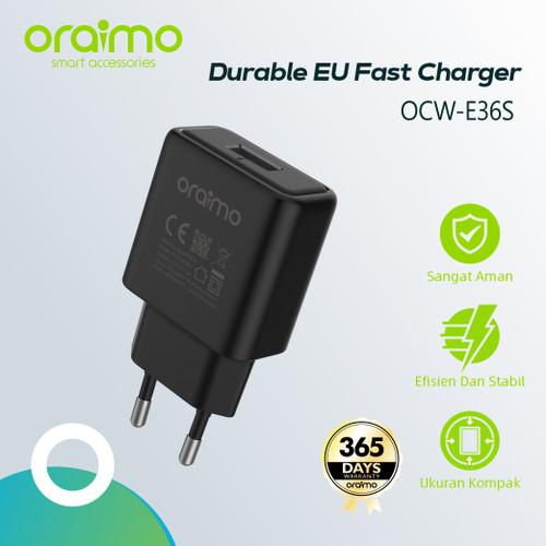 Foto Produk Oraimo Compact Charger Fast Charging dengan Kabel Micro USB OCW-E36S dari Oraimo_indonesia