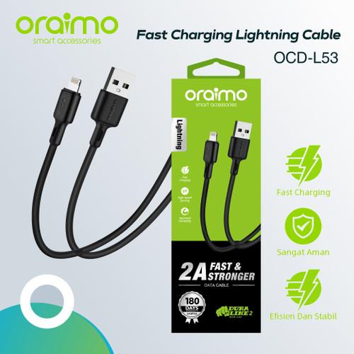 Foto Produk Oraimo Kabel Data Iphone Lightning USB Cable Fast Charging OCD-L53 - Hitam dari Oraimo_indonesia