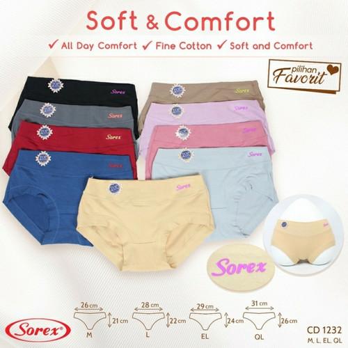 Foto Produk Celana Dalam Wanita Sorex 1232 size M, L, EL dan QL - M dari Luna Libby