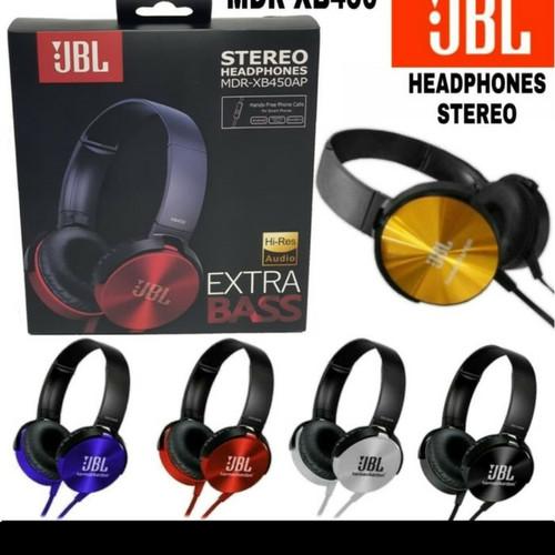 Foto Produk Earphone Headset Headphone Bando JBL MDR XB450 XB-450 Mic EXTRA BASS dari ong star acc