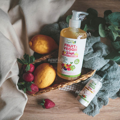 Foto Produk Dehealth Supplies Fruit & Veggie Wash (Sabun Pencuci Sayur Buah) 500ml dari Nourish Indonesia