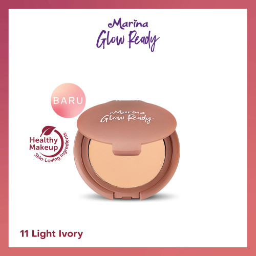 Foto Produk Marina Glow Ready Two Way Cake SPF 20 PA++ - 14 NATURAL dari Tempo Store Official