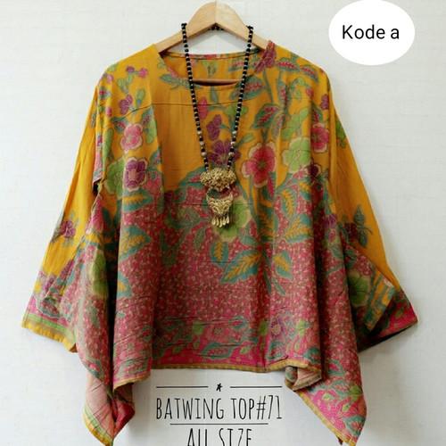Foto Produk baju batik wanita modern blus batwing - Hitam dari Batik Sri