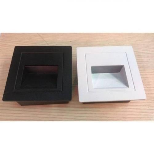 Foto Produk Lampu Tangga LED Stairs Step Hitam Putih Inwall Tanam 1.5/1,5 W 220 v - Putih Putih dari Component Jaya