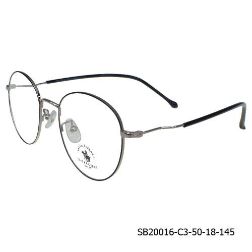Foto Produk SB POLO CLUB Frame Kacamata Wanita Rounded (20016) Clasic Stylish - Silver dari Optik Internasional Official