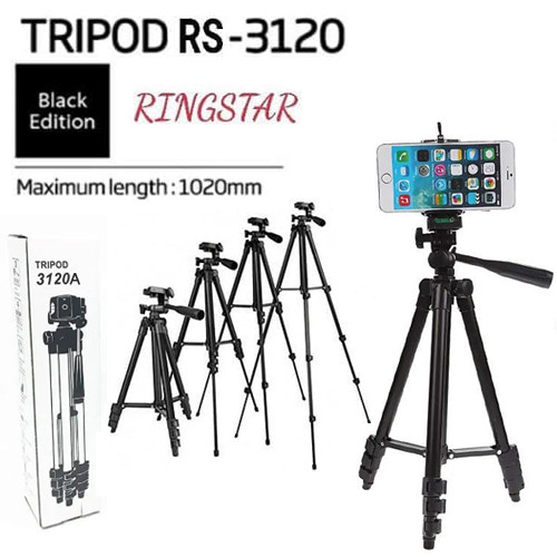 Foto Produk Tripod Ringstar RS 3120A + Holder U Tripod For Camera Digital DSLR dari mofan accesories