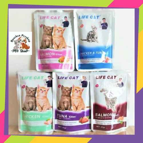 Foto Produk makanan kucing Sachet Life Cat Lifecat Kitten 85gr Whiskas Friskies - tuna kitten dari Brother Petshop