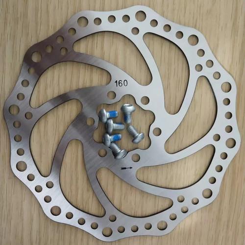 Foto Produk Piringan Cakram Rem /Rotor Sepeda Ukuran 160MM dengan 6 Baut dari Arbitrans