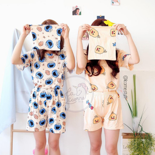 Foto Produk Short sleeve pouch / piyama korea / baju tidur korea /sleepwear dari La Licorne