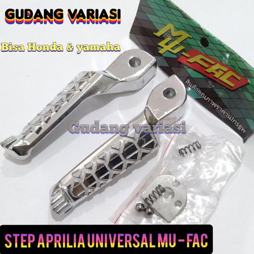 Foto Produk pijakan step kaki Crome chrome aprilia Universal dari gudang variasi mtr