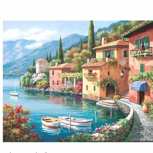 Foto Produk DIY Oil Painting Paint by Number Kits DIY Canvas Painting dari Mohaga_ID