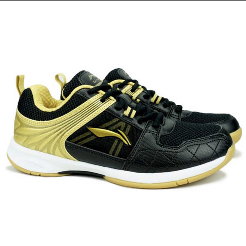 Foto Produk Sepatu Badminton Lining Attack G6 6 Black / Gold dari Lefin Sport + Music
