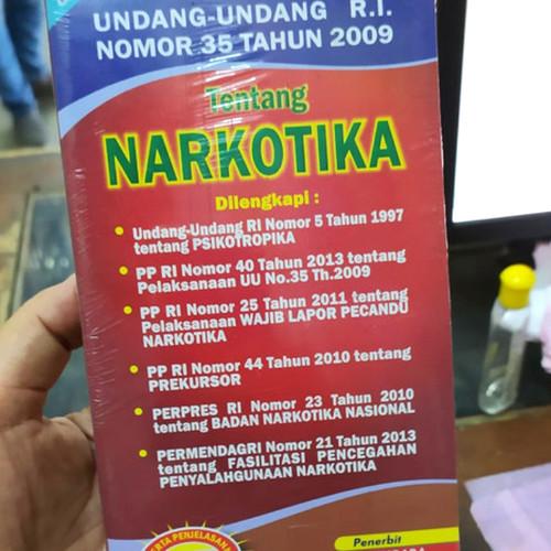 Foto Produk Undang-Undang NARKOTIKA - UU RI Nomor 35 Tahun 2009 - Edisi Lengkap dari Amanahbook