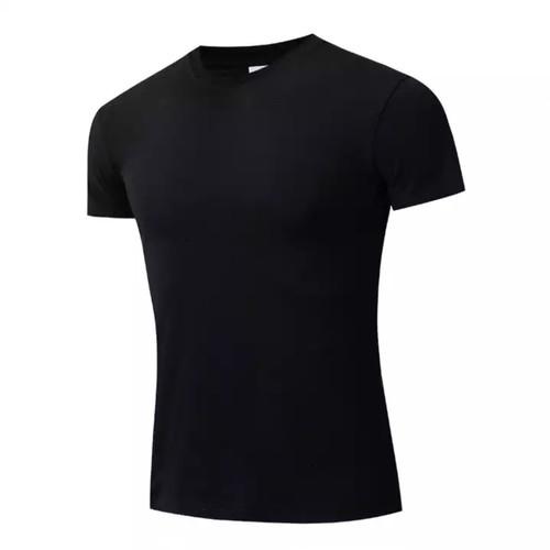 Foto Produk Grosir kaos polos /Daleman /T shirt /Oblong pria - Hitam, all size dari Touchpoint Official