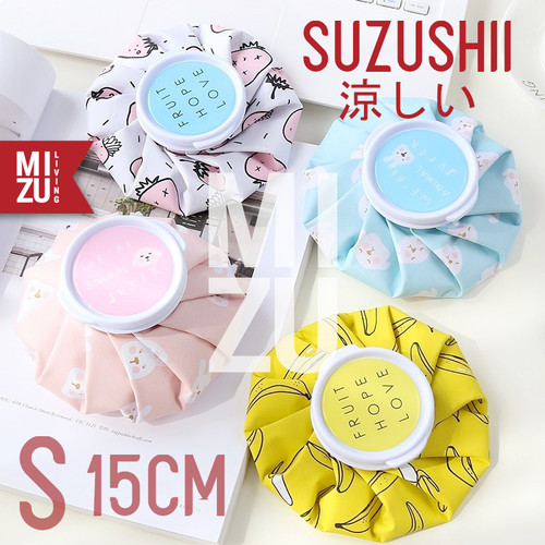 Foto Produk MIZU SUZUSHII S 15cm Cold Compress Ice Bag Hot Pack Kantong Kompres Es - STRAWBERRY dari MIZU Living