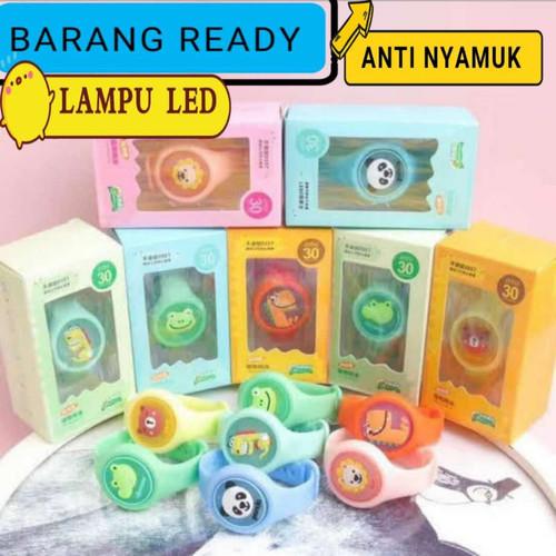 Foto Produk gelang anti nyamuk anak bayi karakter jam tangan mosquito lampu led - Biru dari lgs partai