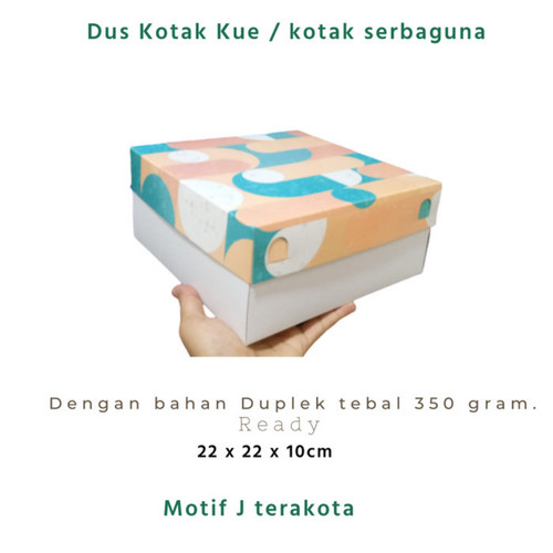 Foto Produk Box / Kotak serbaguna motif terakota model kekinian 22x22x10 dari akutokomu