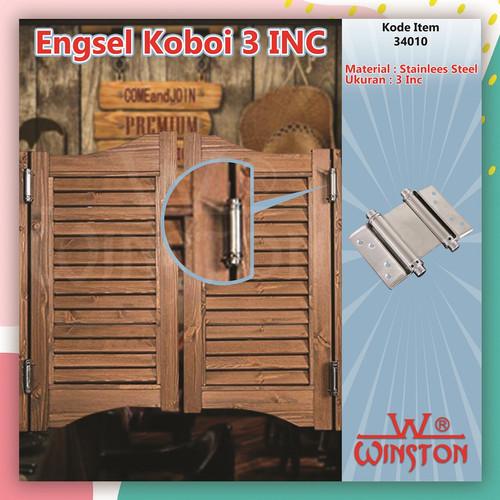 Foto Produk Engsel Koboi 3 INC Stainless Winston / Engsel Pintu Bolak Balik 3 INC dari WINSTON SUKSES ABADI