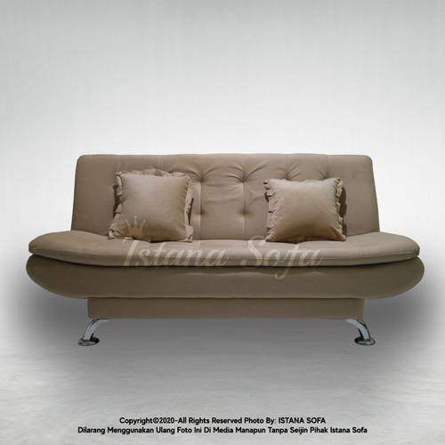 Foto Produk Sofabed / Sofa bed Amarist Minimalis Suede Cream Coklat Muda dari IstanaSofa
