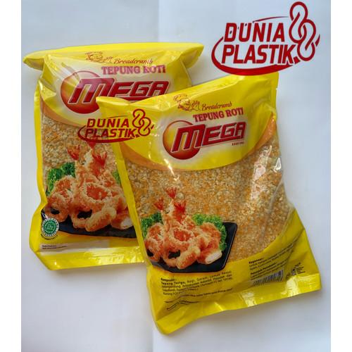 Foto Produk 250gram TEPUNG ROTI MEGA breadcrumbs panir panko kasar warna mix nuget - 250g TPG R MEGA dari Dunia Plastik 88