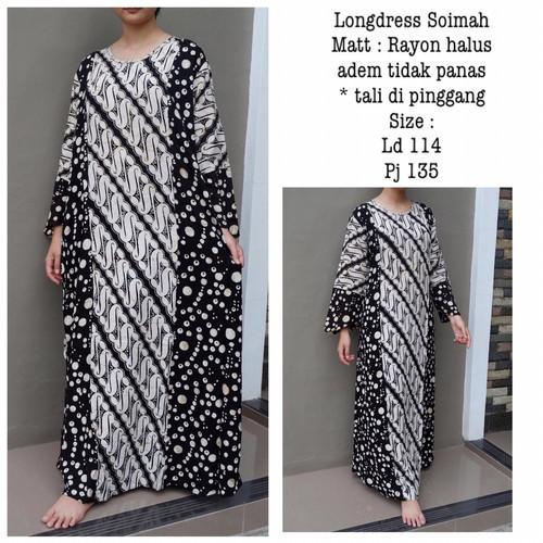 Foto Produk Daster Panjang Longdress Soimah Bahan Rayon Halus dari Batik mbak siti
