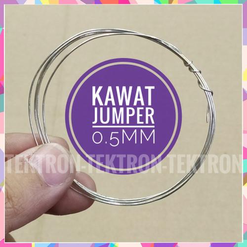 Foto Produk Kawat Jumper 0.5mm Tunggal Kabel Wire PCB Breadboard harga permeter dari tektron