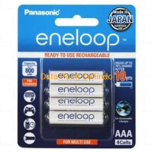 Foto Produk Baterai Panasonic Eneloop Rechargeable A3 / Battery AAA 800 mah 4 pcs dari Data Point Cellindo