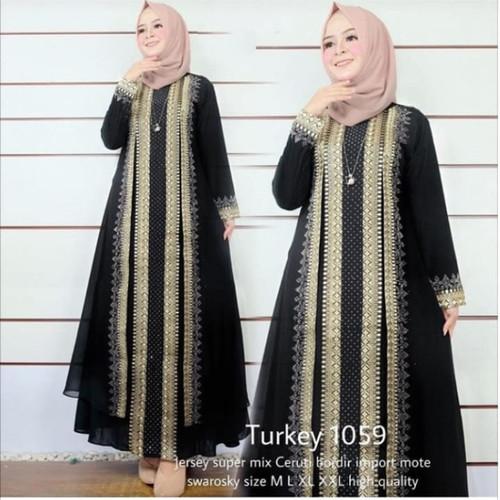 Foto Produk gamis abaya turkey 1059 - Hitam, M dari abaya grosir