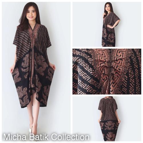 Foto Produk Kaftan Batik Paris Cap (Naga Kombinasi Sogan) dari Micha Batik Collection