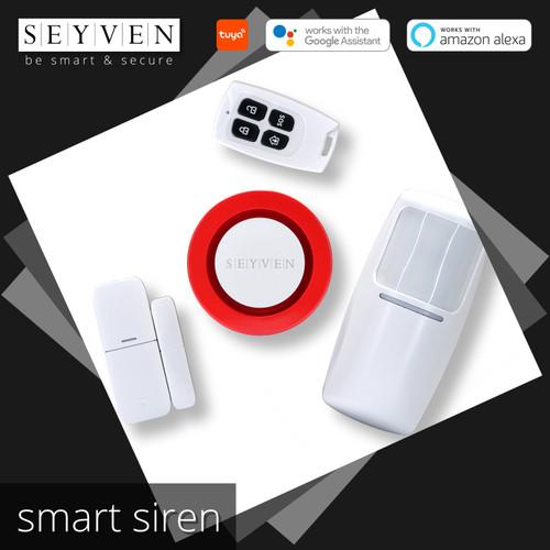 Foto Produk SEYVEN SMART ALARM SIREN WIFI / PAKET ALARM SENSOR WIRELESS TUYA dari SEYVEN