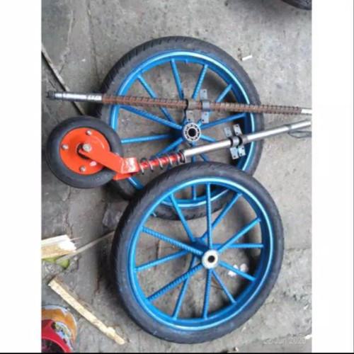 Jual Roda Gerobak Full Set As Tengah Dan Geletrek Kab Bogor Dj Motor Tokopedia