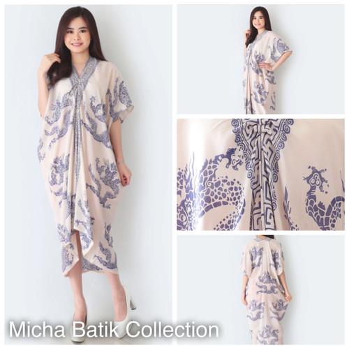 Foto Produk Kaftan Batik Paris Cap (tembokan Naga Indigo) dari Micha Batik Collection