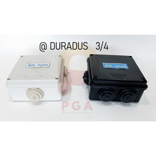 Foto Produk DURADUS 3/4 ( 10 X 10 X 5 cm ) / JUNCTION BOX 3/4 - Hitam dari Penjual Glodok Andalan