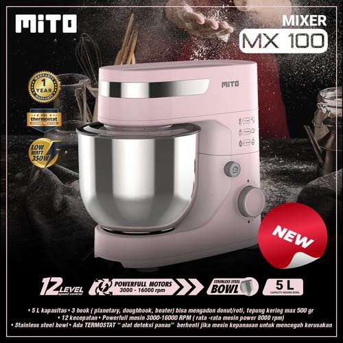 Foto Produk Mito Stand Mixer - MX-100 - MX100 - Pink dari Homewaresku