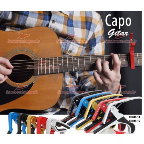 Foto Produk Capo Gitar - Penjepit Gitar SPEEDS 049-15 - Alumunium 14 x9cm original dari GoBuyStore