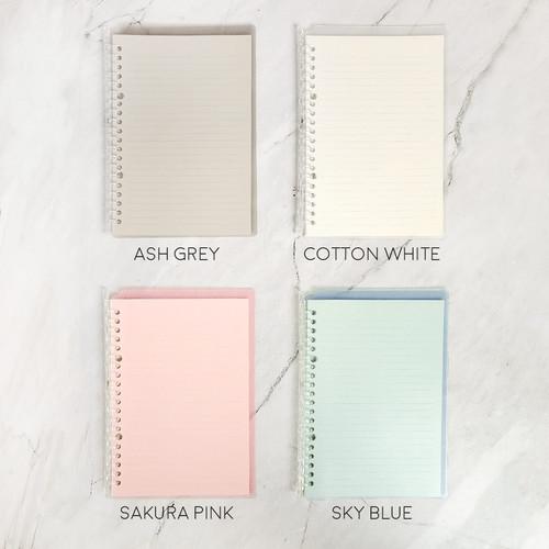 Foto Produk Panmomo Slim File Binder Notebook A5 / Binder A5 / Buku Binder - Ash Grey dari Pinkabulous