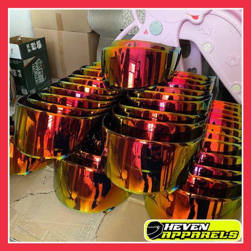 Foto Produk Visor iridium RED GOLD Shoei X14 X Spirit Z7 dari OneSecondStore