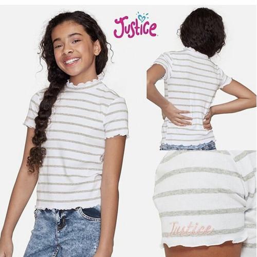 Foto Produk Kaos anak perempuan remaja baju wanita dewasa 20 tahun plus justice dari Ecomoda Shopp