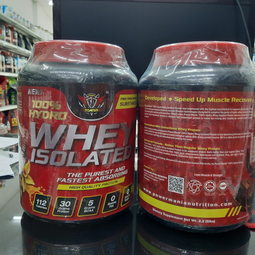 Foto Produk hydro whey isolated power mania 3 lbs hydro whey isolate dari Nutrisi Gym