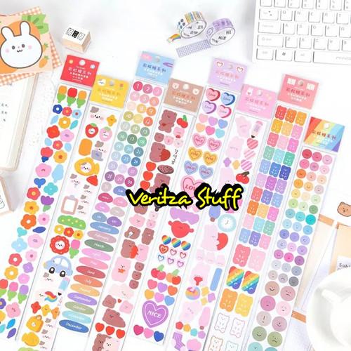 Foto Produk Veritza Deco Sticker Set Rainbow Candy Edition 2 in 1/Scrapbook/DIY - No 7 dari Veritza Stuff