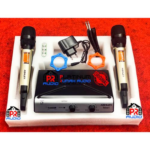 Foto Produk Mic Wireless ASHLEY Voice 1 (Original) 2 Mic Wireless Pegang Pegang dari PR Audio