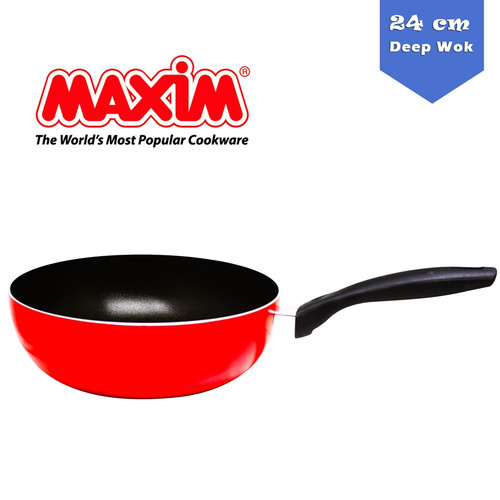 Foto Produk Maxim Valentino Deep Wok Teflon 24 CM VAL-24-DEEPWOK Wajan Cekung dari Jumbo Stationery