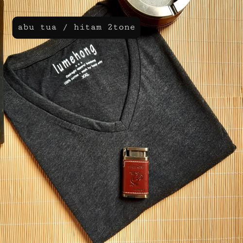 Foto Produk big size xxl kaos polosan pria v neck - Putih dari Kerry Onlineshop