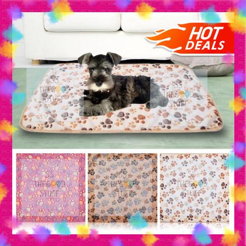 Foto Produk Warm Paw Fleece Blanket/ Alas Tidur Selimut Hewan Anjing Kucing - Pink dari SS TheGoodStuff