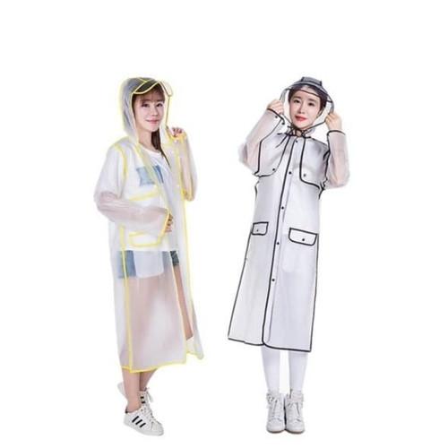 Foto Produk Jas hujan Eva stylist wanita cantik model hal transparan breathable dari BBTronik