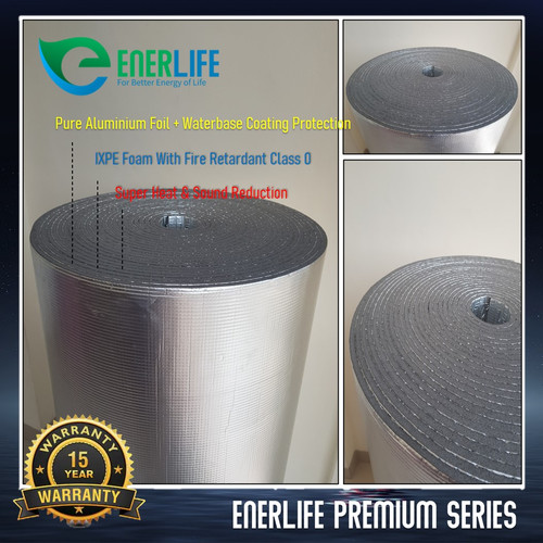 Foto Produk Peredam Panas Atap - Aluminium Foam / Busa 10mm Double EnerLife P-10A2 dari Energy Life Indonesia