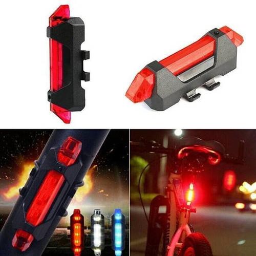 Foto Produk Lampu Belakang Sepeda LED Waterproof Charge USB Best Recharge - Biru dari TruthAcc